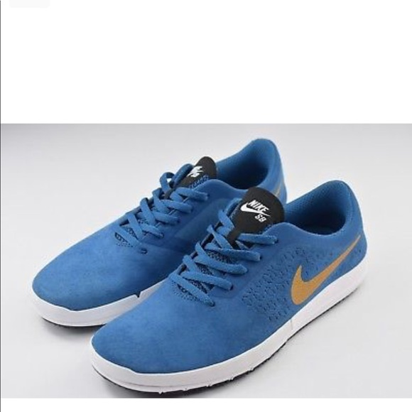 Nike Free SB Nano Blue and Gold f1bb02784